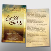 """""""Let Us Go On"""" Invite Card #14208"""