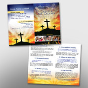 Cross and Sunrise 2-Panel Tract #14062
