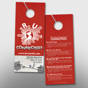 """R U Connected?"" Door Hanger (small) #14161"