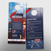 """Experience Freedom"" Door Hanger (small) #14178"