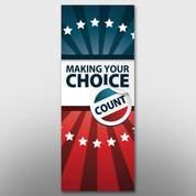 """Making Your Choice Count"" Banner #14203"