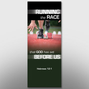 """Running the Race"" Theme Banner #14235"