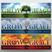 """Grow In Grace"" Seasonal Theme Banner Set #14033"
