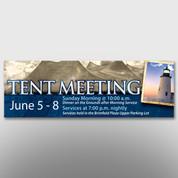 Tent Meeting Banner #14056