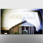 """1st Century Church in a 21st Century World"" Theme Banner #14143"