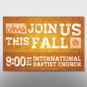 """Join Us This Fall"" Banner #14157"