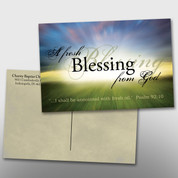 """A Fresh Blessing From God"" 4 x 6 Postcard #14036"