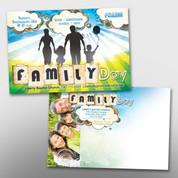 Family Day 4 x 6 Postcard #14072