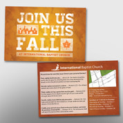 """Join Us This Fall"" 4 x 6 Postcard #14158"