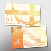 """ALIVE"" Easter Invite Card #14244"