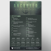 """Anchored"" Theme Calendar #14250"
