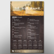 """Ask Seek Knock"" Theme Calendar #14258"