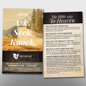 """Ask Seek Knock"" Theme Invite Card #14260"