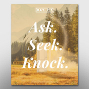 """Ask Seek Knock"" Theme Magnet #14261"
