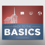 """Back to the Basics"" Theme Magnet #14269"