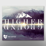 """Higher Ground"" Theme Magnet #14283"