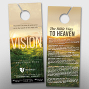 """Vision"" Theme Door Hanger (small) #14289"