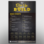 """Rise Up and Build"" Theme Calendar #14295"