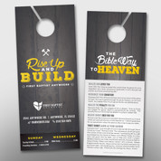 """Rise Up and Build"" Theme Door Hanger (small) #14296"