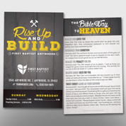 """Rise Up and Build"" Theme Invite Card #14297"