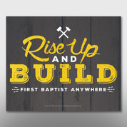 """Rise Up and Build"" Theme Magnet #14298"