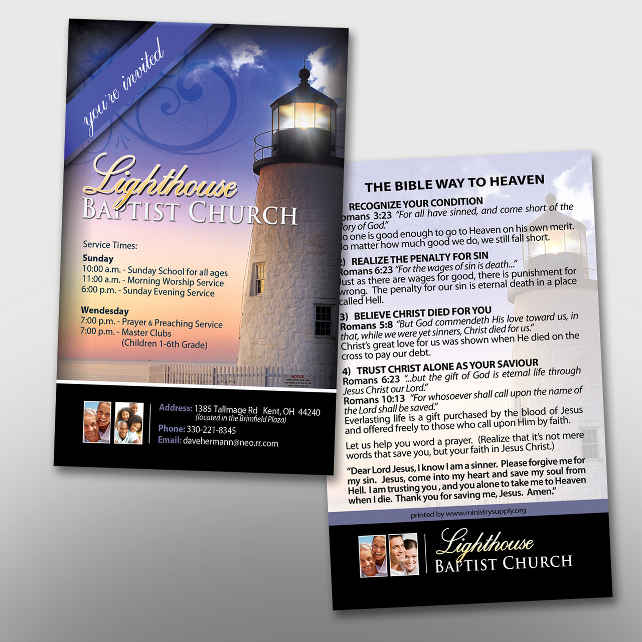 Lighthouse Invite Card #14040