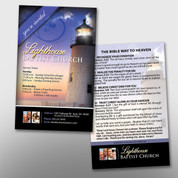 Lighthouse Invite Card Front & Back