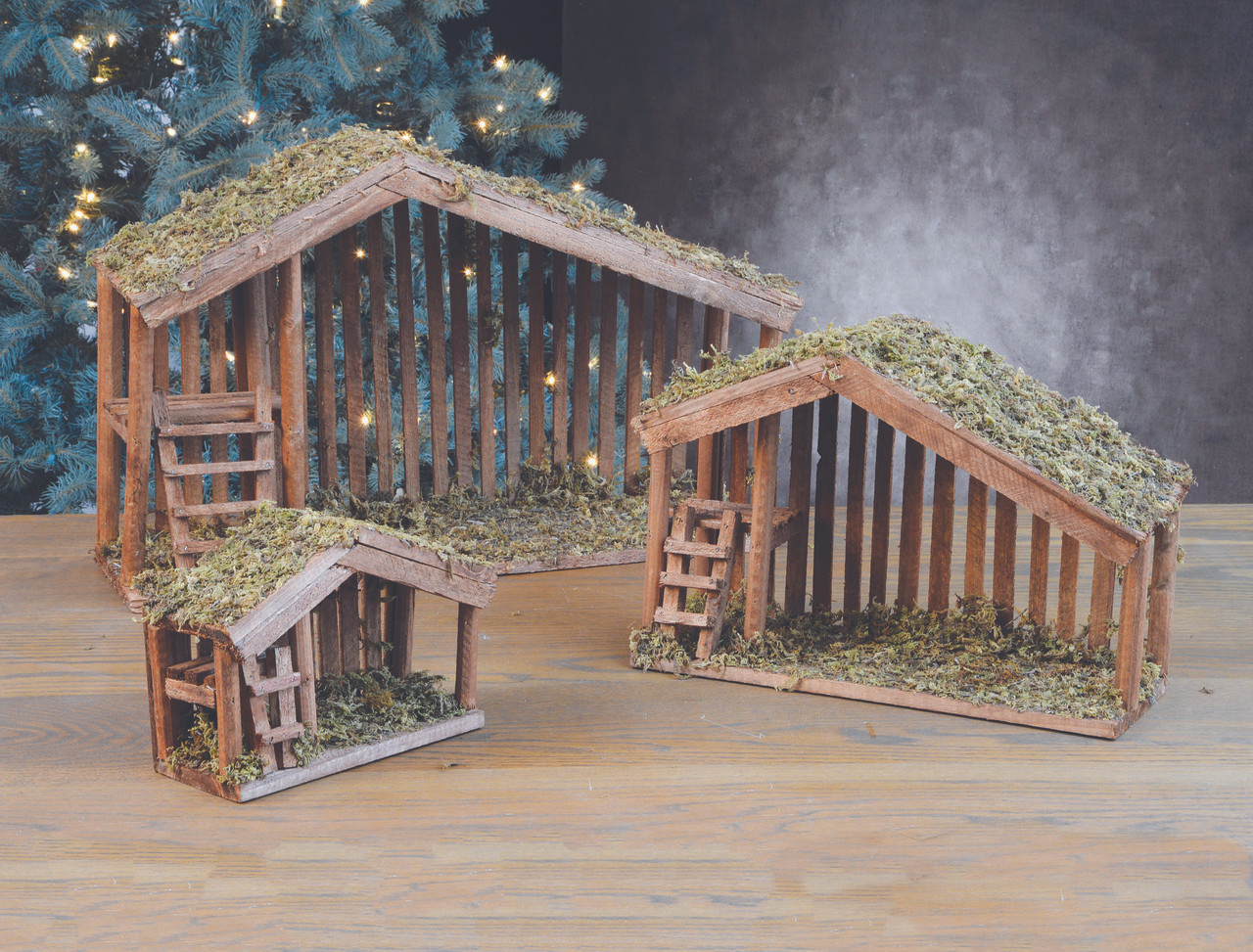 Nativity Wood Stables 7 11 And 16 Inch Sizes