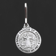 St Francis Protect My Pet Medal Tags Small and Large Size