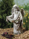 """Garden Angel Collection ~ Angel With Birds, Child Angel Statue With Birds. Dimensions: 16.5""""H 9.25""""W x  7""""D. Stone / Resin Mix"""