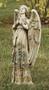 "Rose Praying Angel Statue. 24""H 10""W x 6.25""D. Resin/Stone Mix"