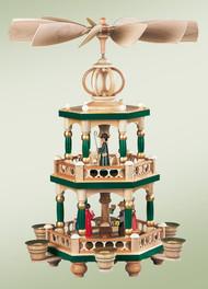 Pyramid 2 Tier Christmas Story, Painted