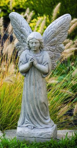 """Praying Angel. Dimensions: H: 24"""", BW: 7"""", BL: 6"""",  Wt: 34 lbs. Made to order...Allow 3-4 weeks for delivery. Made in the USA!"""