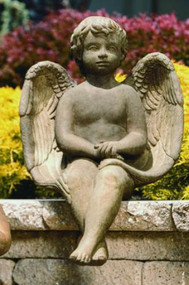 "Sitting Angel ~ Dimensions: H: 26"", W: 16.75"", L: 19"". Wt: 66 lbs. Made to order...Allow 3-4 weeks for delivery. Made in the USA!"