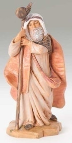 "Fontanini 5"" scale Figurine depicts Isaiah, Shepherd with cane . Polymer Resin.   and is skillfully hand-painted and sculpted by master Italian artisans. Unbreakable. Comes boxed and include a story card Actual dimensions: 4.75""H x 2.25""W x 1.75""D Material(s): child-friendly polymer"