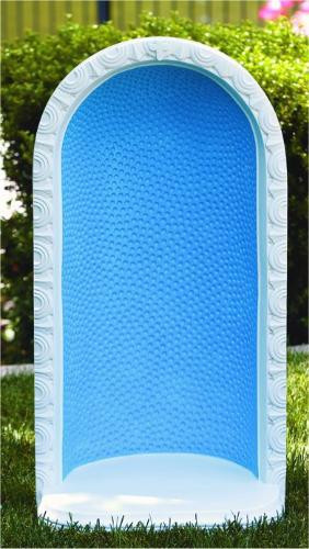 """Grotto #1420 34""""H Round Embossed Dot Grotto for 26"""" Statue H: 34"""", BW: 17"""", BL: 12"""" Weight: 110 lbs"""