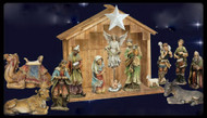 "27"" Color Resin-Stone Outdoor Nativity  Individual Pieces & Small Sets Available for Purchase Stable not included"