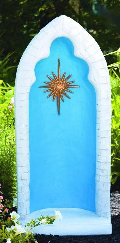 """38"""" High Pointed Grotto with Star For 26"""" Statue 16.5"""" Wide X 11"""" Deep"""