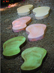 "Stepping Stone Flip Flops! Choose Left or Right Flip Flop or both.  Dimensions: 24""h X 11.5""w X 22""L. Colors: Natural,  Everglade Stone (#91), Buttercup (#45) or Terra Cotta(#22).  All statuary is custom made. Please allow  3-4 weeks for delivery."