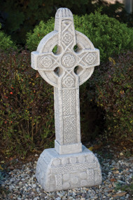 "43"" Celtic Knot  Garden Stone.  Old Stone Color. Weight: 152lbs. Dimensions: 43.5""H x 14""W x 11""L. All statuary is custom made. All statuary is custom made. Please allow  3-4 weeks for delivery."
