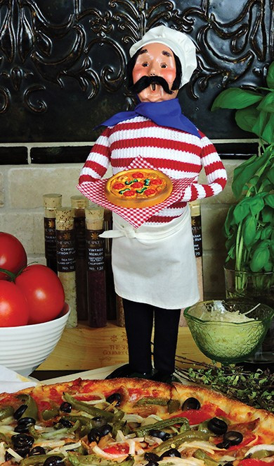 Chef with Pizza is new for 2016.  These Caroler designs look great in the kitchen and can be enjoyed all year round.