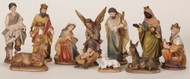 "11 Piece 6"" Color Nativity Set. Dimensions: 6""H 11""W 2.75""L. Material: Polyester resin and stone powder"
