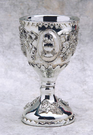 "3"" Silver Polyresin Chalice. Use as a Cake Topper, Token Gift or Party Favor"