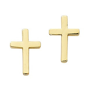 Gold Filled Cross Earrings. Comes in a gift box.
