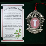 Merry Christmas From Heaven Ornament, Picture Frame
