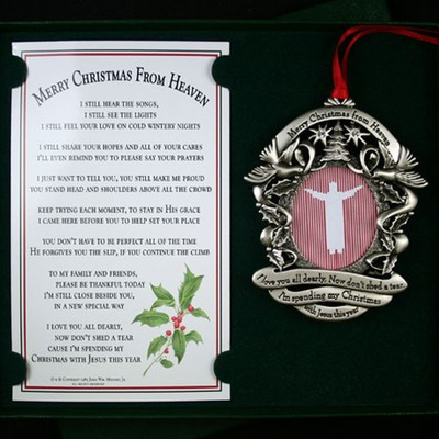 merry christmas from heaven ornament picture frame image 1 - Merry Christmas From Heaven Ornament