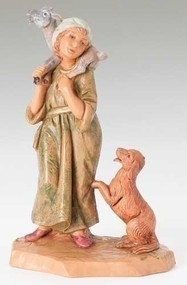 "Fontanini Polymer 5"" Scale Nativity Figures ~ 5"" Ethan Figure from the Centennial Collection"