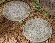 """10 3/4"""" Celtic Stepping Stone. Resin/Stone Mix. 10 3/4"""" Dia. Can also be hung. Each sold separately"""