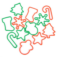 Christmas Silly Bands Bracelets, Glow in the Dark