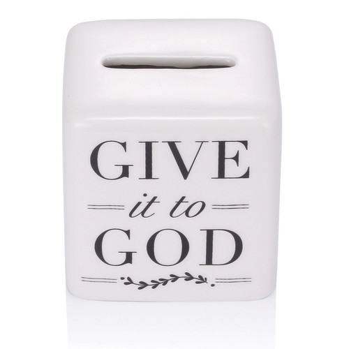 """2.5"""" Porcelain """"Give It to God"""" Box. Write your prayer down and give it to God by folding it into the box. Take a  breath, relax and stop worrying. Have faith, let go and let God take over!"""